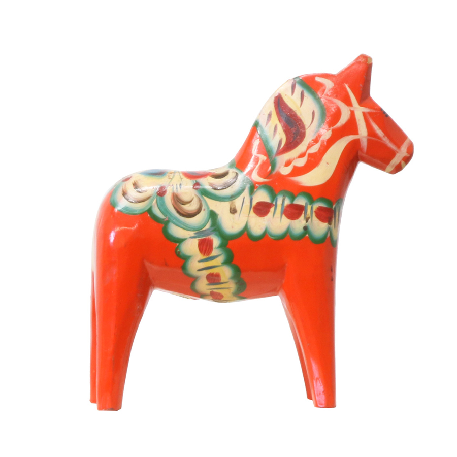 "Swedish ""Dala"" Wood Toy Horse"