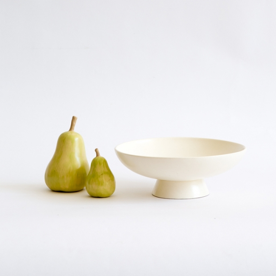 OFF-WHITE PEDESTAL BOWL